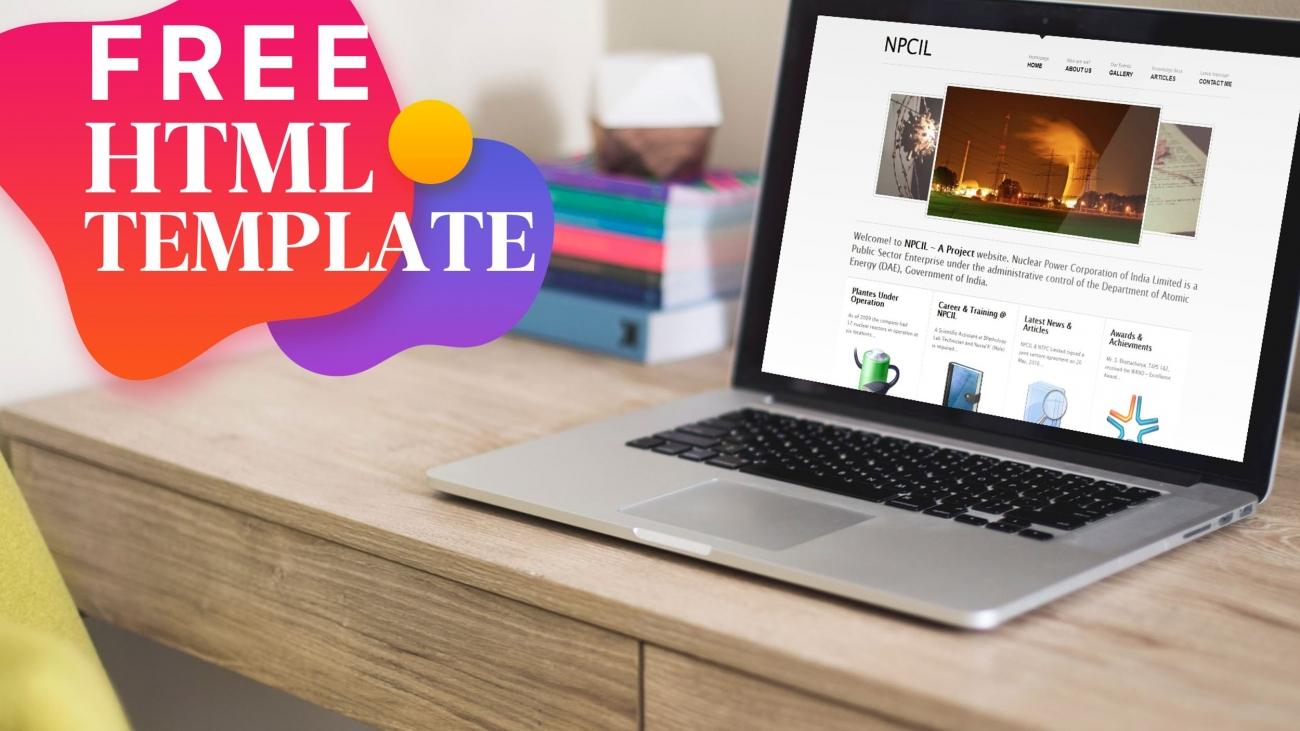 npcil free html web template